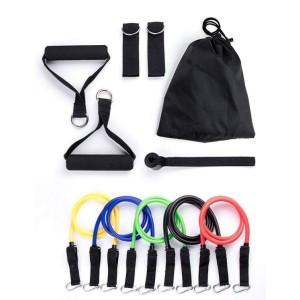 Weerstandsbanden set van 5 Resistance Banden -  Full body trainer - Sport banden - Nu met een GRATIS opbergtasje