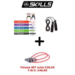 Fitness pakket : Weerstandsbanden set van 5 + Springtouw + Weerstandstube