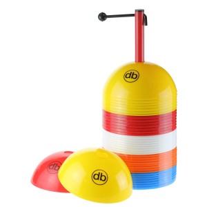 Dribbelkegels / Afbakenbollen set bij elkaar