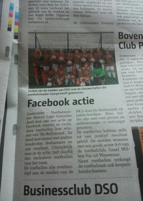 Artikel uit het streekblad zoetermeer