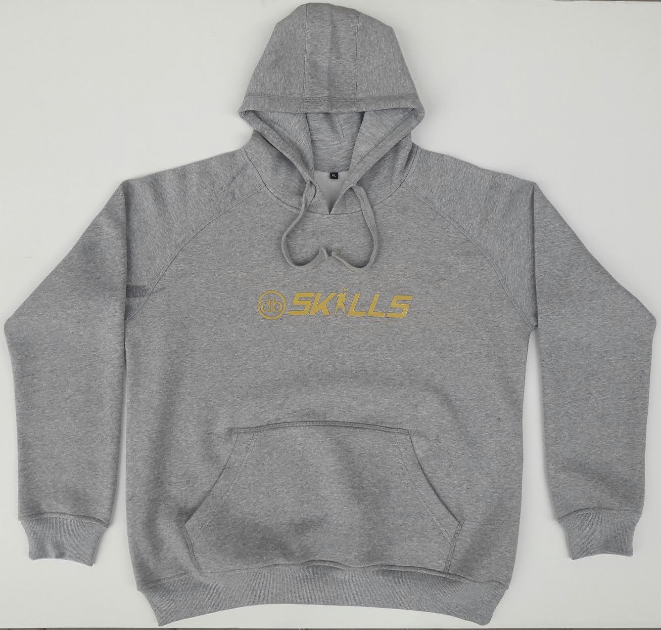 db: SKILLS hoodie grijs/goud