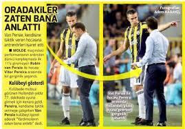 De Turkse media staan vol met het incident met Van Persie.